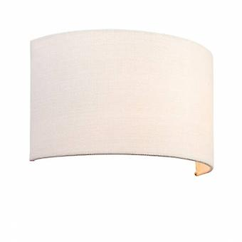 1 Light Up - Down Wall Light Vintage White Linen, Polyester Cotton