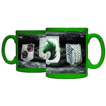 Mug - Attack on Titan - Green Badges Coffee Mug Licensed cmg-aot-bdgs