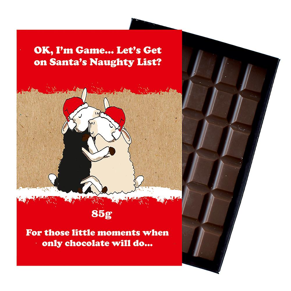 Funny Christmas Gift For Men Women Boxed Chocolate Xmas Present for Him or Her XMS121
