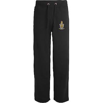 Queens Royal Hussars - Licensed British Army Embroidered Open Hem Sweatpants / Jogging Bottoms