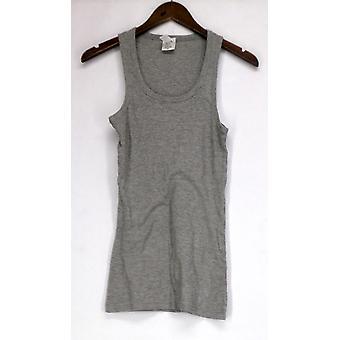 I/A Icon kleding top Basic Scoop nek geribbeld tank Gray Womens
