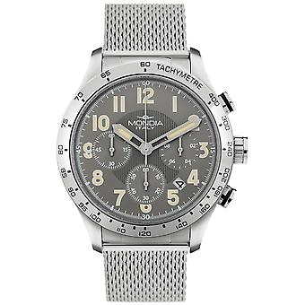 Mondia Intrepid Chrono Japanese Quartz Analog Man Watch with MI757-2BM Stainless Steel Bracelet