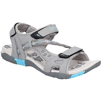 Cotswold Womens Whichford Touch Fasten Sandal Grey/Light Blue
