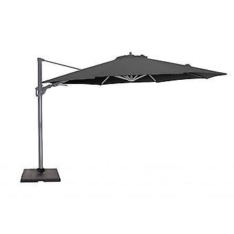 Beach7 | Kos zweefparasol rond polyester doek |  Antraciet/Dark Grey | parasols