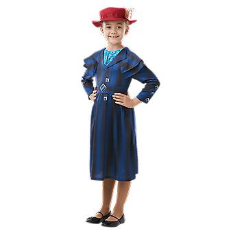 Jenter alder 3-8 år Mary Poppins kostyme verdens bok dag Fancy Dress