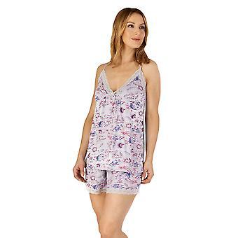 Slenderella GL4702 Women's Gaspe Floral Lace Short Pyjama Set