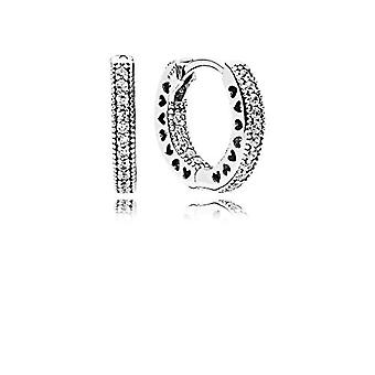 Pandora Silver Women's Hoop Earrings - 296317CZ