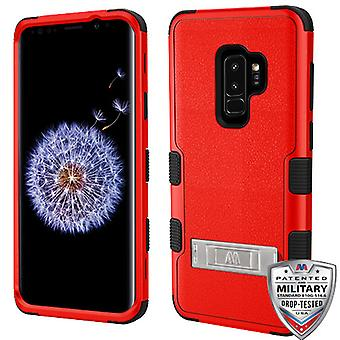 MYBAT Natural Red/Black TUFF Hybrid Phone Protector Cover  for Galaxy S9 Plus