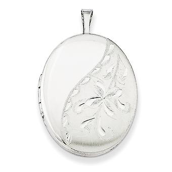 925 στερλίνα ασημένια μοτίβο δώρο πλαίσιο άνοιξη Ring δεν engraveable γυαλισμένο και σατέν 20mm πλευρά ανθισμένα οβάλ Photo Lo
