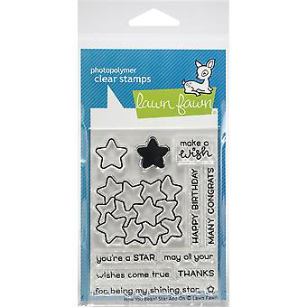 Lawn Fawn How You Bean? Star Add-On Clear Stamps