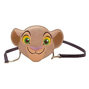 Lion King Shoulderbag Nala Face formet nye kvinner offisielle Disney Brown