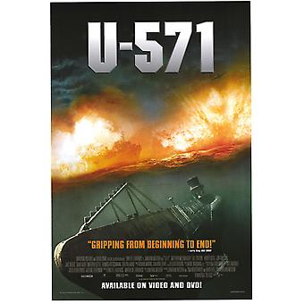 U-571 (Vidéo) (2000) Affiche vidéo originale