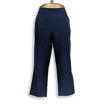 Isaac Mizrahi Live! Women's Petite Pants 24/7 Stretch Crop Blue A351755
