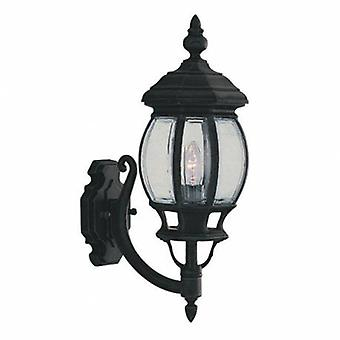 1 Light Outdoor Wall Lantern Czarny Ip44