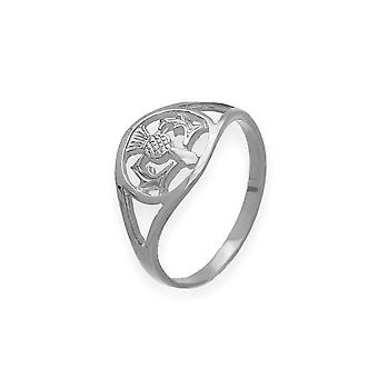Sterling Argent traditionnel écossais traditionnel écossais Thistle Design Ring
