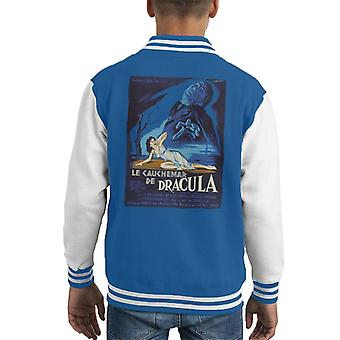 Hammer Horror Films Dracula French Movie Poster Kid's Varsity Jacket