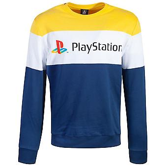 Difuzed PlayStation Colour block tröja hane Large (SW073567SNY-L)