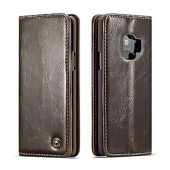 Fall für Samsung Galaxy S9 braun Kartenhalter