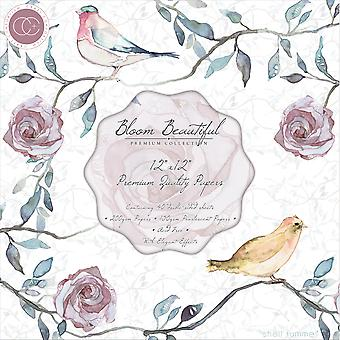 "Craft Consortium Double-Sided Paper Pad 12""X12"" 40/Pkg-Bloom Beautiful"