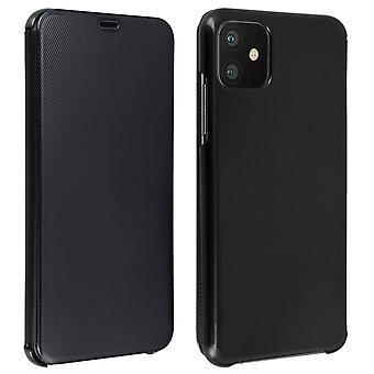 Funda Flip para Apple iPhone 11 Translucent Rigid Thin and Light Flap - Negro
