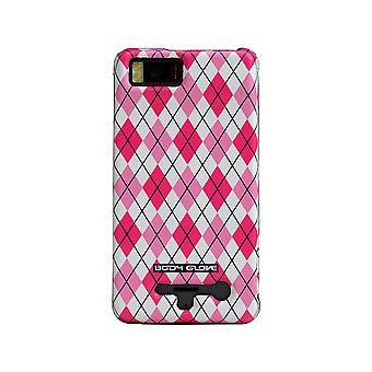 Body Glove Snap-on Hard Shell Case pour Motorola Droid X2 - Pink Argyle
