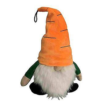 "Petlou Plush Colossals 13"" Gnome Carrot Dog Toy"