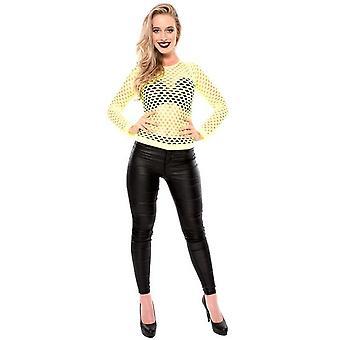 Vrouwen kostuums NET shirt luxe geel