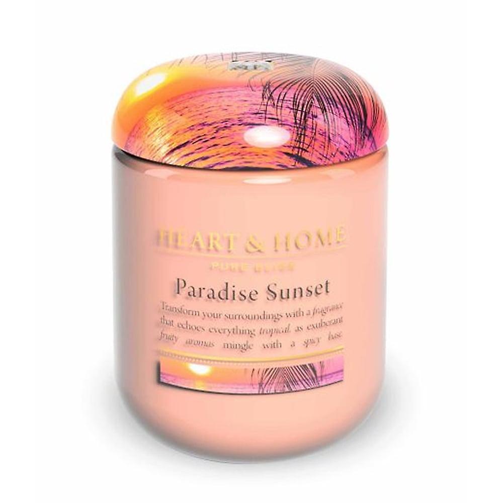 Heart & Home Large Candle Jar Paradise Sunset