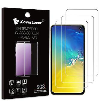 For Samsung Galaxy S10e,3-pack Tempered Glass Screen Protector,iCoverLover