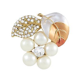 Eeuwige collectie Forever Autumn glazuur Pearl en Crystal sjaal Clip