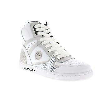 Airwalk Prototype 600  Mens White Leather Athletic Skate Shoes