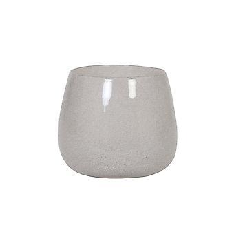 ضوء والمعيشة مزهرية 26x22cm مومبولا زجاج الأبيض
