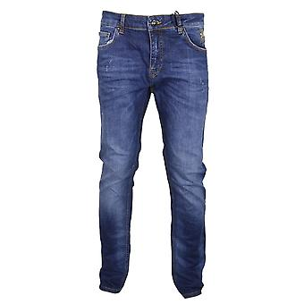 Cavalli Class Stone Wash Slim Fit Stretch Jeans
