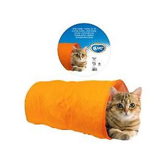 Duvo + Tunnel cylindrique pour chats Orange (chats, jouets, Tunnels)
