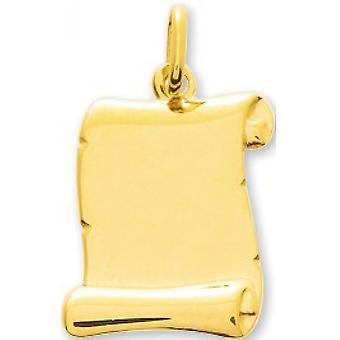 Pingente Parchment Plate Ouro 375/1000 amarelo (9K)