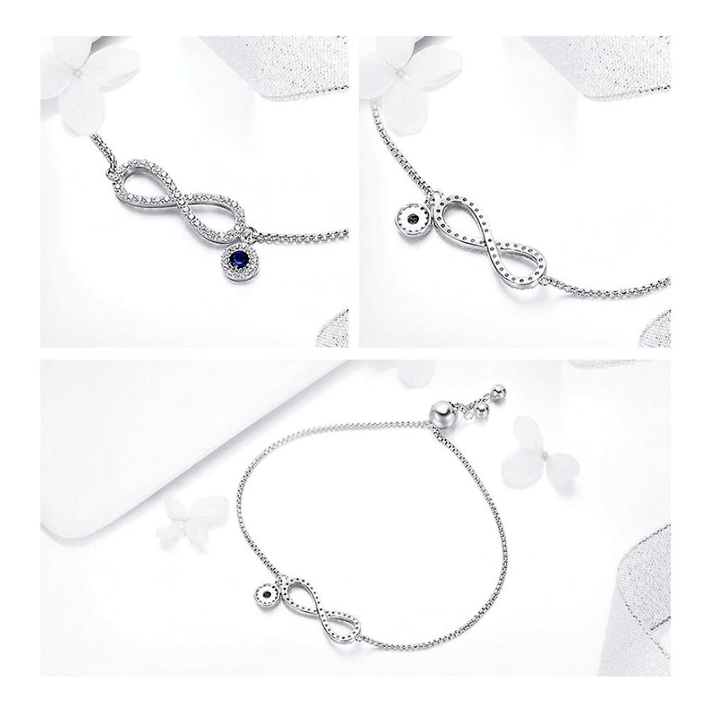 Infinite Women's Bracelet adorned with Crystal by Swarovski White and Silver 925/1000 8099
