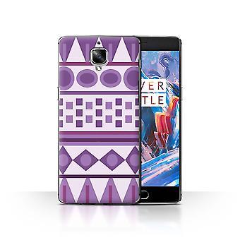 STUFF4 Case/Cover for OnePlus 3/3T/Mayan Aztec Pattern/Purple Fashion