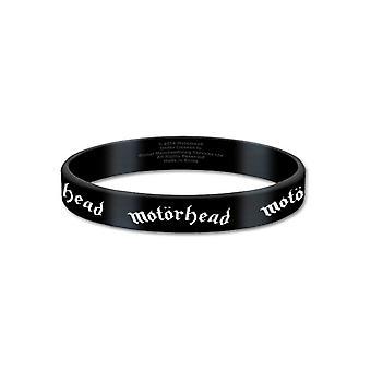Motorhead Wristband lemmy Classic Warpig Logo Official New Black Rubber