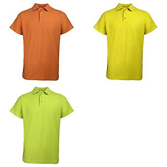 RTY Enhanced Vis Mens Hi Visibility Safetywear Polo Shirt (Pack of 2)