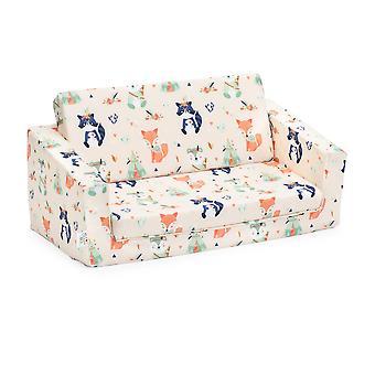 Ready Steady Bed Kids Mini Fold Out Lounger (fr) Chaise de siège de lit de sofa d'enfants Idéal pour le salon des enfants de la salle de jeux (en anglais seulement) Ergonomiquement conçu (Amis de la forêt)