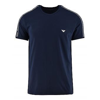 Emporio Armani Loungewear Armani Navy Eagle Logo Short-Sleeved T-Shirt