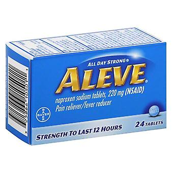 Aleve pain reliever & fever reducer, 12 hours, tablets, 24 ea