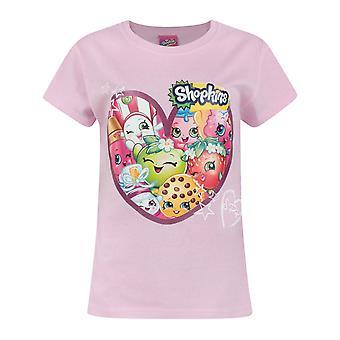 Shopkins Heart Girl's Pink Short Sleeve T-Shirt