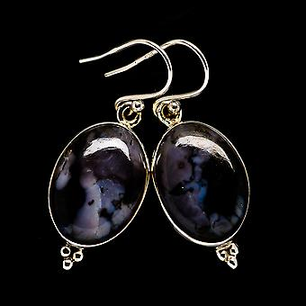"Gabbro Earrings 1 1/2"" (925 Sterling Silver)  - Handmade Boho Vintage Jewelry EARR399014"