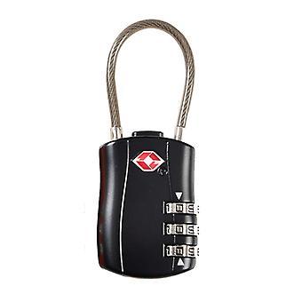 Yhdistelmä lukko numero koodilla-TSA matka tavara lukko-musta