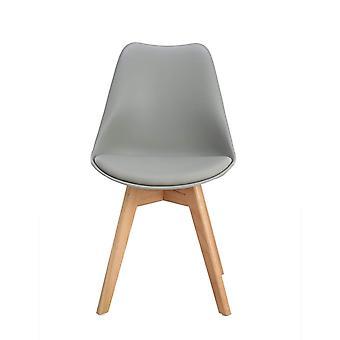Wood4you - Frankfurt Grey Oak Essstuhl - Pariso - Low - Sitzhöhe: 41 cm - 2 Stück