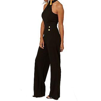 Women's Halterneck Sleeveless Jumpsuit