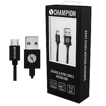 CHAMPION Hi-Speed MicroUSB-kaapeli älypuhelimille-3M