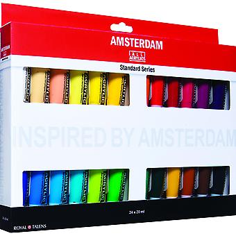 Définir 24 X 20Ml Amsterdam Acrylique Standard