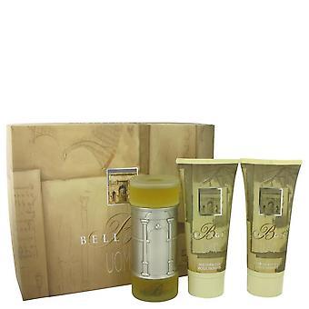 Bellagio Gift Set por Bellagio 3,4 oz Eau de toilette spray + 6,8 oz gel de banho + 6,8 oz após barba bálsamo
